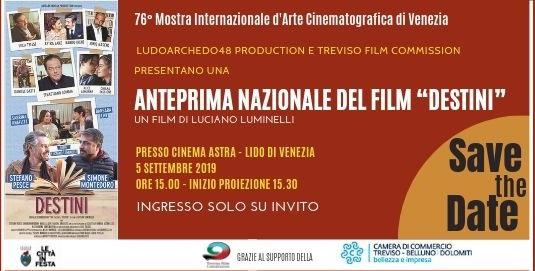 Anteprima nazionale Film Destini realizzata da Elisa Siciliano per Treviso Film Commission